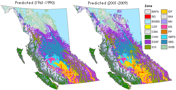 Future Projections Based On Individual Climate Change Scenarios